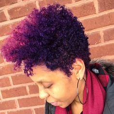 Purple Natural Hair, Natural Hair Short Cuts, Purple Hair, Natural Hair Styles, Au Natural, Tapered Natural Hairstyles, Natural Girls, Going Natural, Natural Beauty