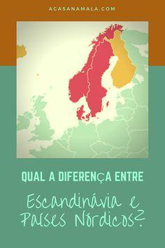 Existe diferença entre Escandinávia e Países Nórdicos? #escandinavia #paisesnordicos