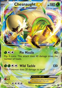 Black Friday 2014 Pokemon XY Card Game Single Holo Promo Card Chesnaught-EX from Pokémon Cyber Monday. Black Friday specials on the season most-wanted Christmas gifts.