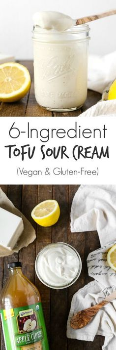 Vegan Tofu Sour Cream (6 Ingredients) - The Plant Philosophy