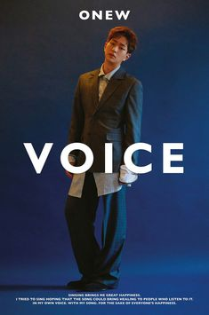 SHINee's Onew has just dropped the first teaser image for his upcoming first solo album, 'Voice'!Onew's first full solo album 'Voice' contains a total… Jonghyun, Lee Taemin, Teaser, Shinee Twitter, Solo Album, Shinee Debut, Better Music, Lee Jinki, Going Solo
