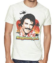 Available in sizes from small to XL 80s Tv Series, Pi T Shirt, Magnum Pi, Best Quality T Shirts, Tom Selleck, Mens Hawaiian Shirts, Retro, Mens Tops, Fashion