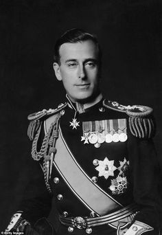 Louis Mountbatten, Earl Mountbatten of Burma, son of Prince Louis of Battenberg and his wife Princess Victoria of Hesse and by Rhine, daughter of Queen Victoria's daughter Princess Alice