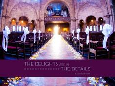 Wedding reception decor and designs set the mood for a wedding.