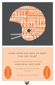 Football party! More options at www.eloquenceonline.com