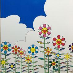 From Julien's Auctions, Takashi Murakami, Flower 2 Offset lithograph on paper, 20 × 20 in Superflat, Neo Pop, Jeff Koons, Damien Hirst, Christmas Present Pictures, Takashi Murakami Art, Murakami Flower, Art Environnemental, Art En Ligne