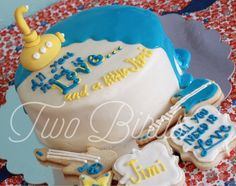 All You Need Is Love Cake. Beatles Cake. Yellow Submarine Cake. Jimi Hendrix Beatles themed Baby Shower. Created by Two Birds Bakery