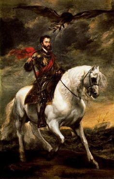 Carlos I a caballo