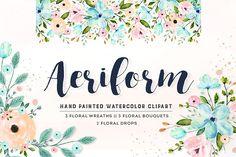 Flower Clip Art - Aeriform by DigitalCloud on @creativemarket