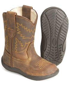 Toddler cowboy boots that are easy on their little feet.  YES PLEASE! Freddy needs these!!! @Adina Zacharias Alcozer-Harris... can you imagine him in these! Too cute!
