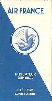 Air France Timetable, 1939