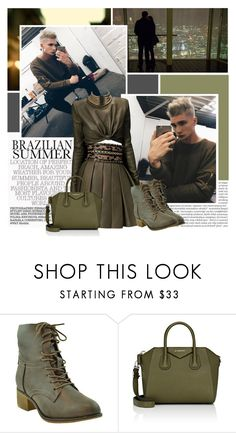 """New Crush - Kir Medvedev ;)"" by isabeldizova ❤ liked on Polyvore featuring Balmain, Givenchy, Leather, GREEN, army, balmain and KirMedvedev"