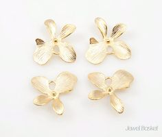 - Matte Gold Plated (Tarnish Resistant) - Brass / 14mm x 16mm  - 4pcs / 1pack