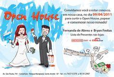 Bryan Len - Portifólio: Convite Open House e Noivado