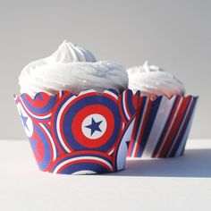 American Hero Cupcake Wrappers