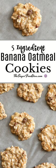 This is an easier and healthier cookie than the average cookie! #healthy #cookie #banana #oatmeal #sugarfree #healthy #trending #popular #best