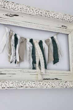 Fabric Ideas DIY Rag Banner Garland using fabric scraps and ribbon. - Easily create an inexpensive DIY rag garland fabric banner in only 3 steps using scrap fabrics and ribbon to match your decor. Rag Garland, Ribbon Garland, Fabric Garland, Diy Ribbon, Ribbon Crafts, Fabric Banners, Garland Ideas, Ribbon Banner, Fabric Decor