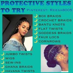 Protective Styles to try Protective Styles to try - Black Girl. Protective Styles to try Protective Styles to try - Black Girl Natural Hairstyles Leda Muir, Girls Natural Hairstyles, Black Girls Hairstyles, Shag Hairstyles, Fancy Hairstyles, Haircuts, Protective Hairstyles For Natural Hair, American Hairstyles, Simple Hairstyles
