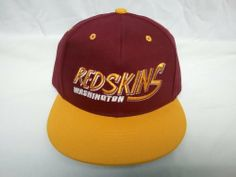 """NEW Washington Redskins NFL Two Tone Vintage Snapback Flatbill Cap / Hat by Reebok. $8.57. **Officially Licensed Product of the NFL**. """"Washington Redskins"""" very nicely embroidered on front panel of hat. Redskins logo embroidered on the back of hat. Made by NFL Team Apparel, 100 % Cotton, Adjustable Plastic Strap. Vintage Washington Redskins Flat Bill Snap Back Cap / Hat Fits sizes 6 7/8 to 7 3/8. """"Washington Redskins"""" is very nicely embroidered on front panel of hat. Redskins..."""
