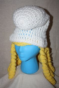 Smurf Smurfette EASY Crochet Hat Pattern Size by HulaLoopDesigns