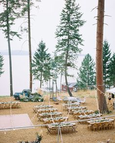 Calling all pampas grass lovers! This lakeside wedding in Montanta is full of gorgeous outdoor wedding inspiration, including fabulous florals and decor. Church Wedding Flowers, Wedding Ceremony Decorations, Ceremony Backdrop, Outdoor Ceremony, Wedding Aisles, Wedding Backdrops, Wedding Ceremonies, Wedding Reception, Wedding Bells