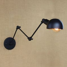 loft black Industrial style Retro vintage sole head of a bed Outlets lobby hotel bedroom Antique decorative wall lamp decor dinning room ideas * AliExpress Affiliate's Pin. Find out more by clicking the VISIT button Rustic Light Fixtures, Wall Light Fixtures, Rustic Lighting, Bar Lighting, Wall Sconces, Lobby Do Hotel, Bedside Reading Light, Reading Lights, Luminaire Mural