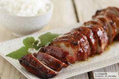 Solomillo Laqueado a las 5 especies Pork Recipes, Mexican Food Recipes, Cooking Recipes, Bon Appetit Bien Sur, Good Food, Yummy Food, Tapas, Cooking Time, I Foods