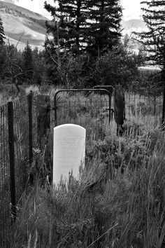 cemetary. Waiting at the gate.