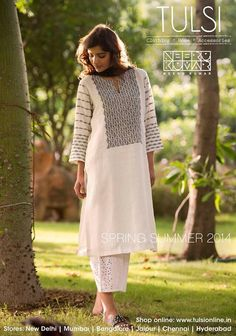 Kurtas from the Spring Summer collection from tulsi online