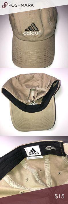 a3c4368a18b Adidas Dad Hat Strapback Cap Vintage Beige Green  🌎everythingvtg.bigcartel.com🌎 📲
