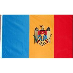 Moldova Flag 3X5 Foot Nylon PH and FR . $5.99. Indoor Flag. Pole Hem & Fringe. This 3x5 foot Moldova flag is made from 100 DuPont SolarMax nylon fabric with a pole hem designed to slip over an indoor or parade flagpole. A leather tab is used to attach the flag to the flagpole. Gold fringe is sewn on the top bottom and fly-end of the flag. Made in the U.S.A.
