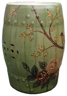 chinese glazed ceramic stool