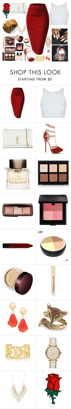 """""""Dessert For Two 😏"""" by cissylion ❤ liked on Polyvore featuring Topshop, Yves Saint Laurent, Burberry, Anastasia Beverly Hills, Hourglass Cosmetics, Laura Mercier, NYX, JustFab, Palm Beach Jewelry and Tory Burch"""