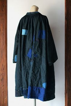 Indigo linen patchwork smock/France by SASAKIYOHINTEN on Etsy