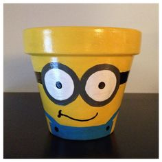 Despicable Me Minion Planting Pot by K8BitHero on Etsy, $20.00