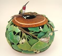 Bonnie Gibson Harmony in Green Gourd Art |Pinned from PinTo for iPad|
