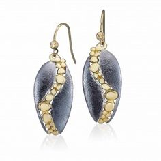 Golden River Curved Dangle Earrings