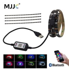 USB LED Strip Bluetooth 5V Tira LED RGB Tape SMD 5050 Flexible Ribbon Ambilight TV Light Backlight for Computer Bias Lighting  Price: 9.00 & FREE Shipping  #tech|#electronics|#bluetooth|#computers