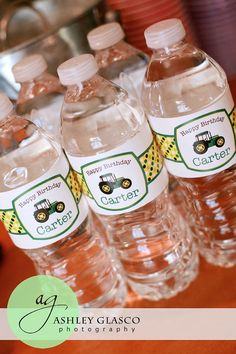 Tractor water bottle labels - Chickabug.com