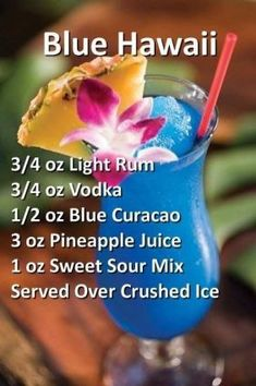 blue hawaii is part of food_drink - [ad Clothing, Activewear, Shoes & Swimwear Shipped Globally to your door maisonjaccollection worldmarket fashion Mixed Drinks Alcohol, Alcohol Drink Recipes, Mixed Drink Recipes, Alcohol Punch, Rum Punch Recipes, Party Drinks Alcohol, Liquor Drinks, Cocktail Drinks, Bourbon Drinks
