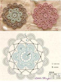 Free Crochet Mandala Patterns - Page 9 of 12 - DIY & Crafts Crochet Mandala Pattern, Crochet Motifs, Crochet Blocks, Crochet Diagram, Doily Patterns, Crochet Chart, Crochet Squares, Thread Crochet, Crochet Stitches