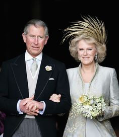 April 9, 2005: The wedding of Prince Charles and Camilla Parker-Bowles at Windsor Guildhall.