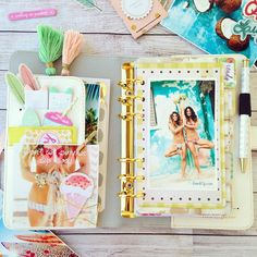 Beautiful tone it up fitness log planner with webster's pages color crush planner #plannerlove #planneraddict