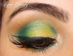 Green Make up Brésil  spécial coupe du monde 2014 World Cup Soccer Brazil green