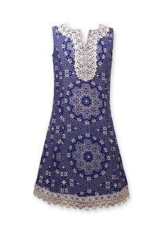 Bonnie Jean Crochet Shift Dress Girls 7-16 Plus