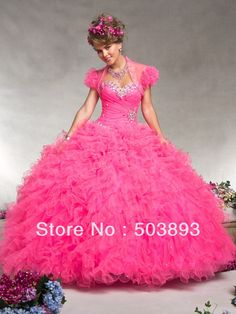 neon hot pink quinceanera dresses - Google Search