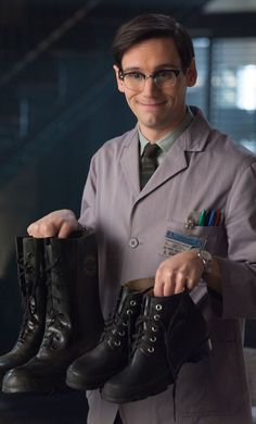 Edward Nygma/Baby Riddler. [See what I'm saying???? That Creepycute INFP aesthetic just oozes off him in every episode. i love him. and i love his glasses.]