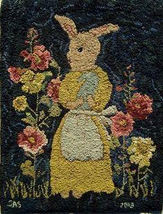 hand hooked rug by Sharon Smith  -  Linda Broughman via Susan Blakley onto Easter