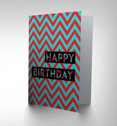 Card birthday happy older person theme cockney slang gift cp2722 new birthday happy blue red zig zag art greetings by weebluecoo m4hsunfo