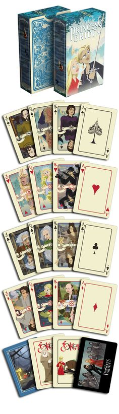 The Princess Bride - Brute Squad playing cards by Albino Dragon. THESE ANIMATIONS ARE ON POINT. Now available on www.albinodragon.com